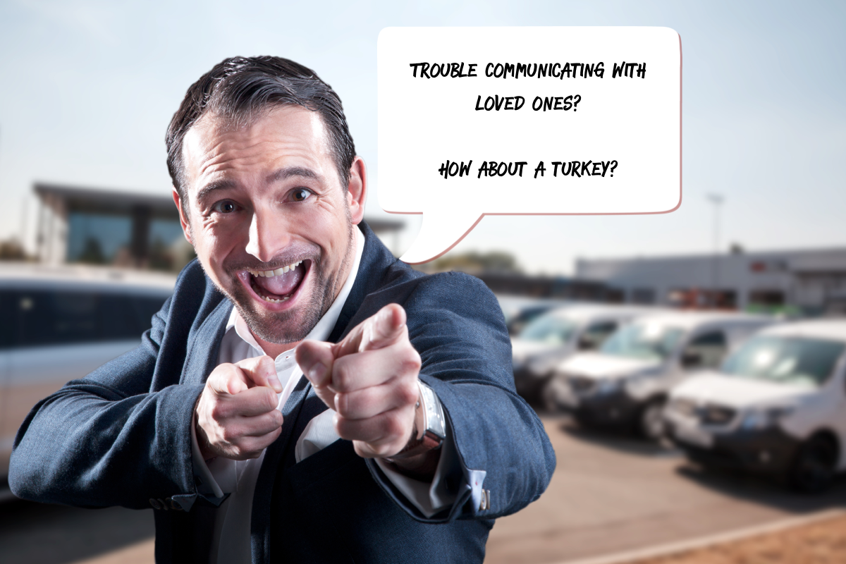 Slimy car salesman type turkey giveaway ads are common in our profession. Is that what you want representing you??